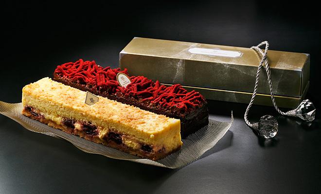 チーズケーキ<チェリー>&チョコレートケーキ<フランボワーズ>