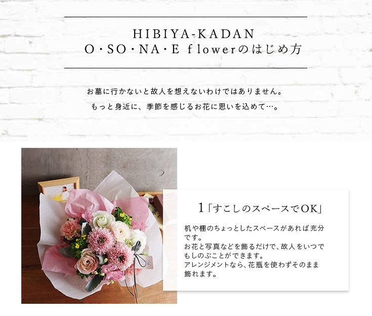 O・SO・NA・E flowerのはじめ方
