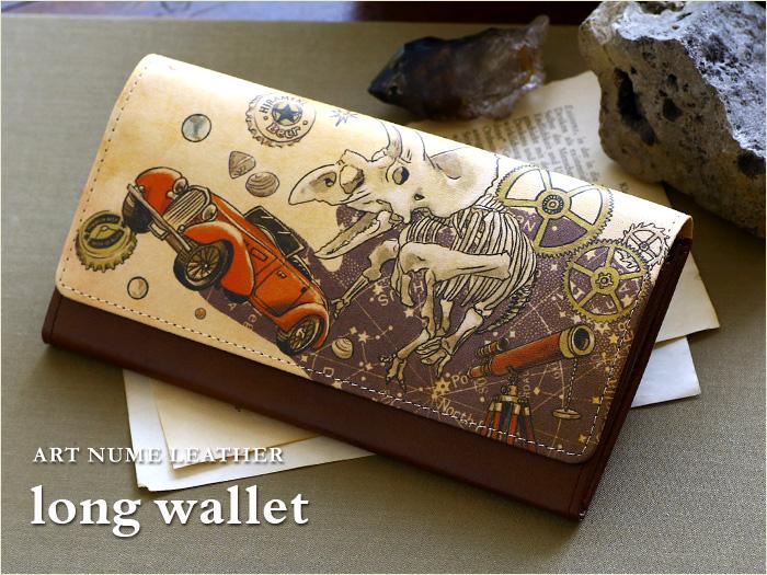 7294e3326bfc 上質なヌメ革に、アートなデザインを直接施したアートヌメレザーシリーズの、 長財布です。 ホック一つでお財布を開閉でき、 スリムなのに、通帳もスッキリ入れること  ...