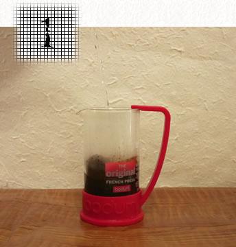 コーヒープレス淹れ方 ステップ1
