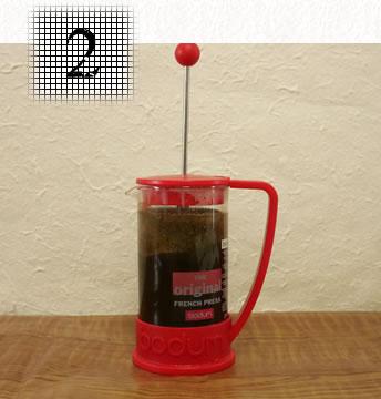 コーヒープレス淹れ方 ステップ2