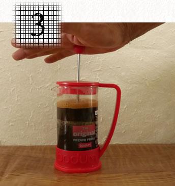 コーヒープレス淹れ方 ステップ3