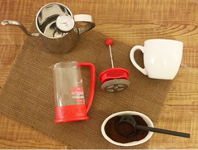 コーヒープレス淹れ方 準備するもの