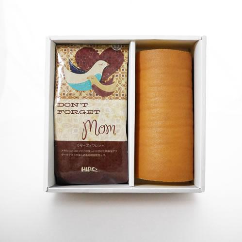 ヒロコーヒーの母の日コーヒーギフト特集しっとり絹ロールとオーガニックマザーズ・ブレンドセット