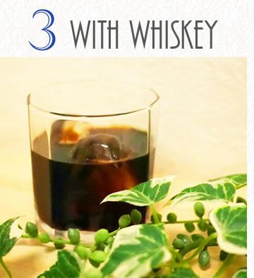 ヒロコーヒー濃縮還元アレンジベースシロップウィスキーと混ぜる