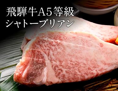 飛騨牛ヒレ肉A5等級シャトーブリアン【送料無料】