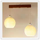白磁丸2灯