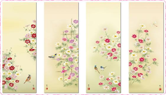 秋の掛軸-秋桜・コスモス
