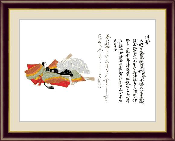 【F6】日本の名画額 伊勢(いせ) 三十六歌仙 モダンアート インテリア 安らぎ 潤い 壁掛け [送料無料]