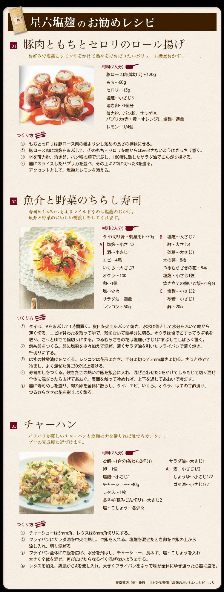 塩麹レシピ書籍