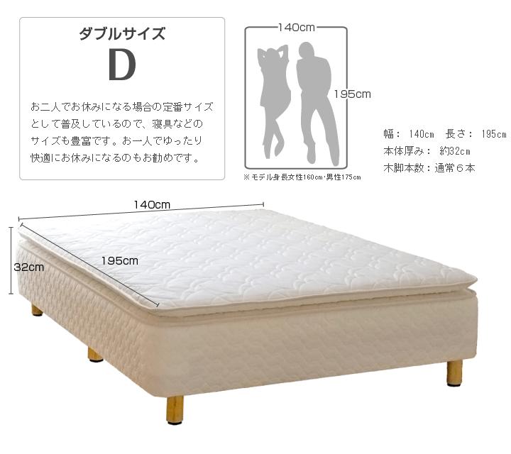 ダブルサイズ 幅140cm