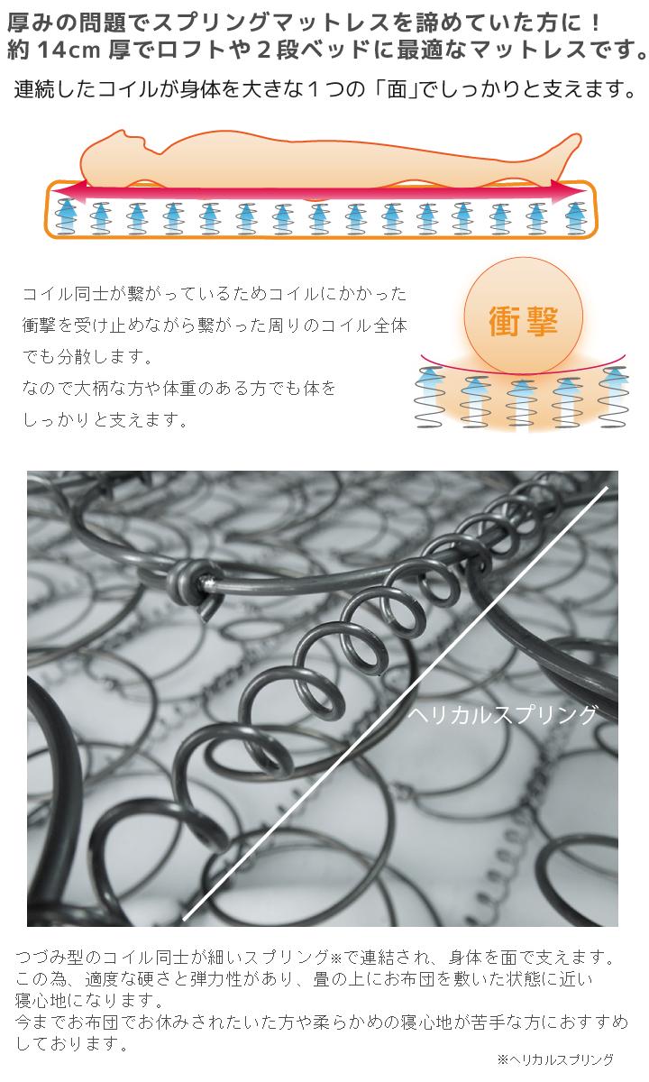 日本人の体に馴染みやすいコシのある寝心地のボンネルコイル