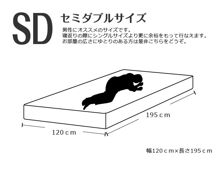 セミダブルサイズ幅120cm