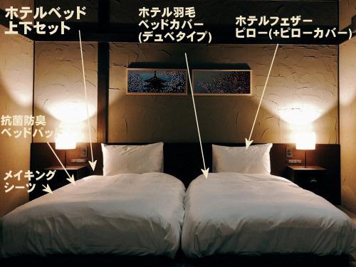 寝心地が最高のホテルのベッドやマットレスでコーディネートを