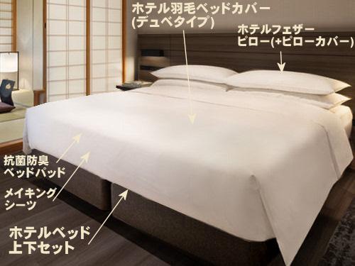 高級旅館や著名ホテルのマットレスや寝具やベッドを採用して家を大改装