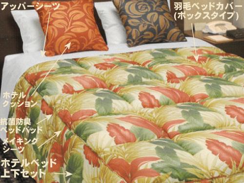 もともと業務用のベッドやマットレスやベッドカバーで寝室をリノベーション