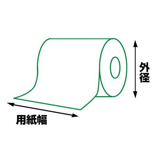 【10巻セット】 RP5880T 感熱ロール紙(用紙幅58mm×外径80mm)シチズンシステムズレシートプリンター対応
