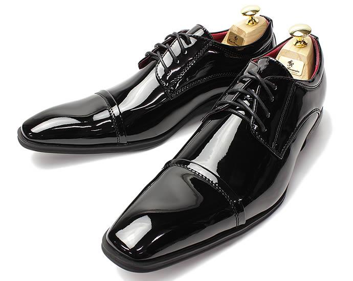 黒エナメル 新郎 靴 [ 結婚式 タキシード エナメル ] ドレスシューズ メンズ 黒エナメル 新郎 小物 紳士靴 パーティシューズ 赤 レッド ドレス シューズ ロングノーズ ブラック フォーマルシューズ 燕尾服