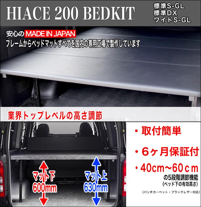 ハイエース・NV350ベッドキット