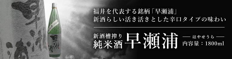 早瀬浦 新酒槽搾り純米酒1.8L