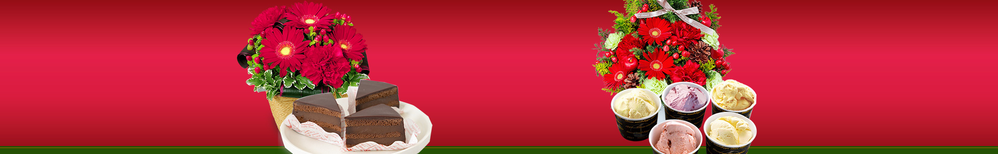 花キューピットのクリスマス お花とスイーツ&グルメのセット特集2020