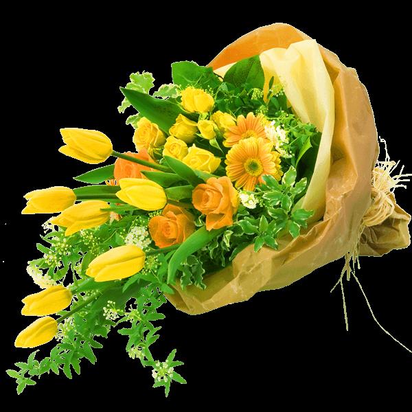 男性におすすめ花束 男性におすすめ<br>花束 上品で親しみやすい|花キューピットのチューリップ特集 2020