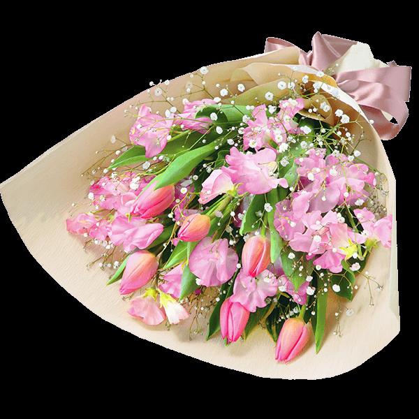 女性におすすめ花束 女性におすすめ<br>花束 華やかで可愛らしい|花キューピットのチューリップ特集 2020