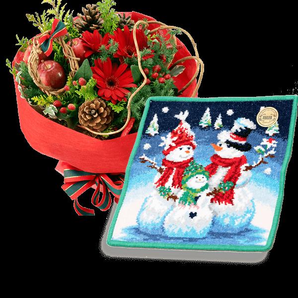お花と雑貨のセット 冬にぴったりなデザイン|花キューピットのクリスマスにおすすめ!人気のプレゼント特集 2019