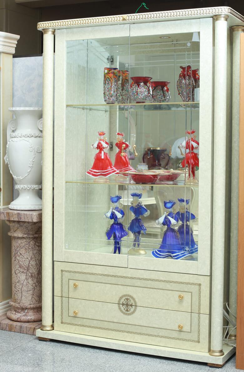 イタリア/キャビネット/白/装飾/フロントガラス