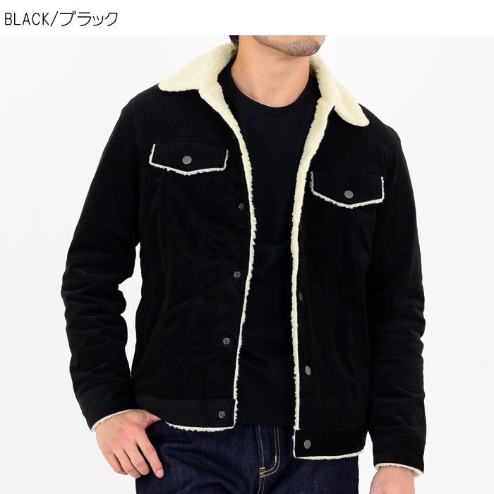 ストレッチコーデュロイ・ボア付きジャケット