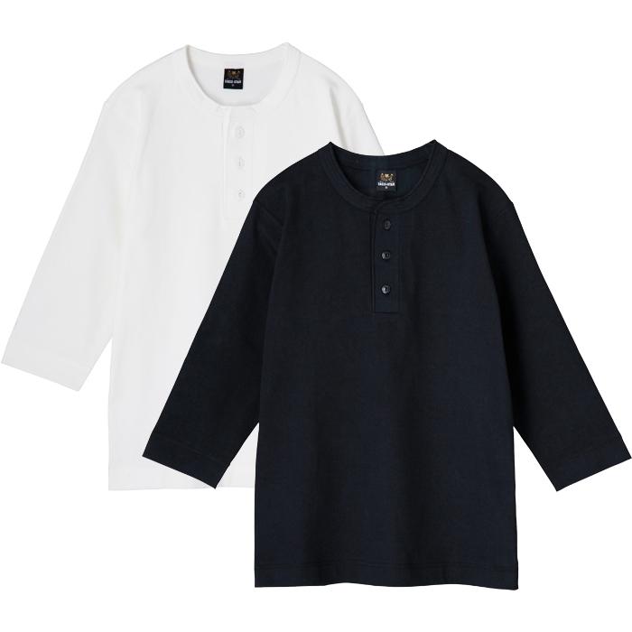ヘンリーネック Tシャツ 7分袖