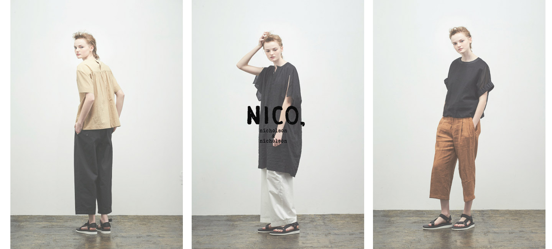 nicholson and nicholson(ニコルソンアンドニコルソン) ドロップショルダーニット FIG TOP