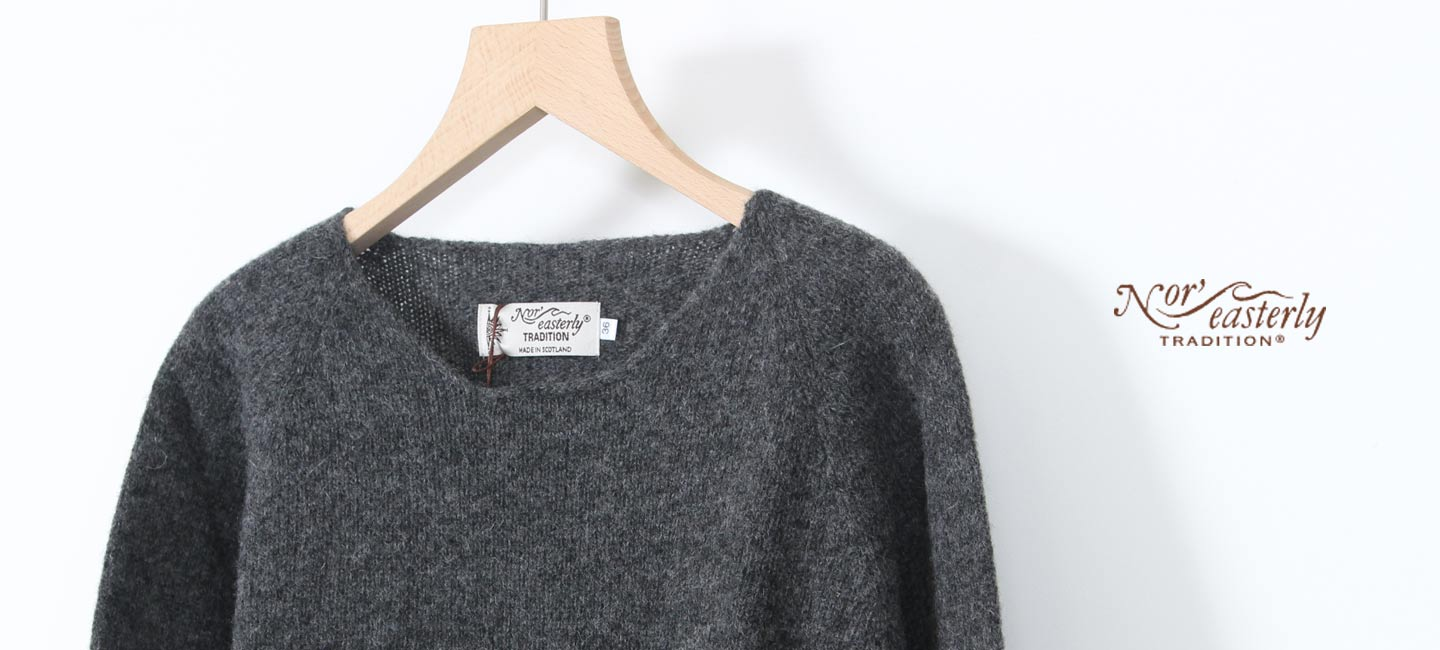 NOR'EASTERLY(ノア イースターリー) L/S CREW NECK KNIT