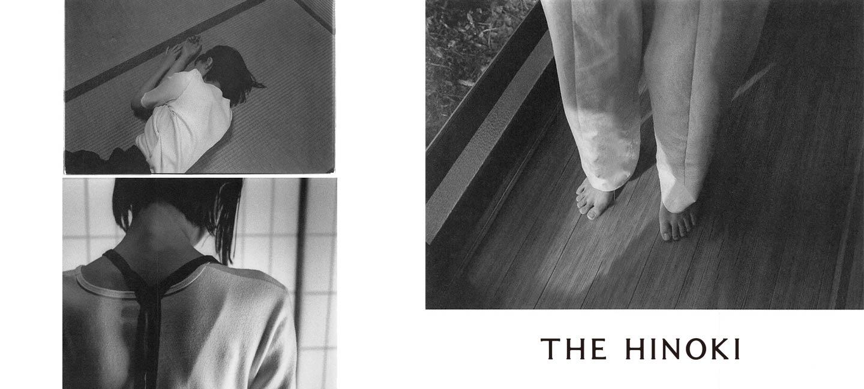 THE HINOKI(ザ ヒノキ) オーガニックコットン リンガーTシャツ 黒縁取り ベンガラ染め