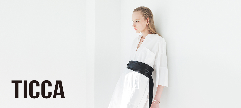 TICCA(ティッカ) スクエアビッグシャツ White