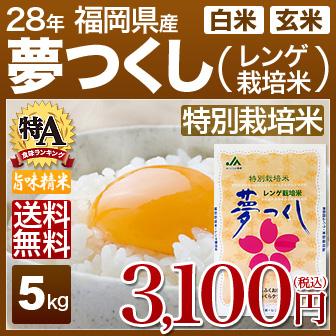 福岡県夢つくし(特別栽培米)