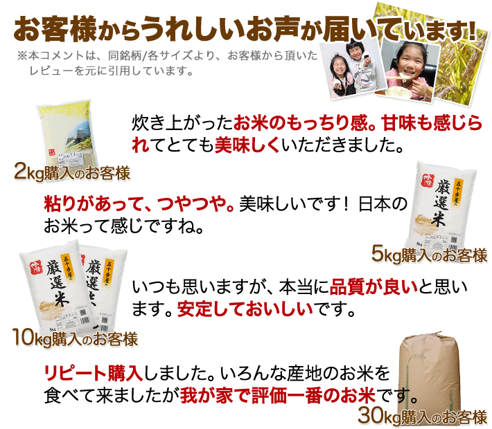 福井県 コシヒカリのレビュー