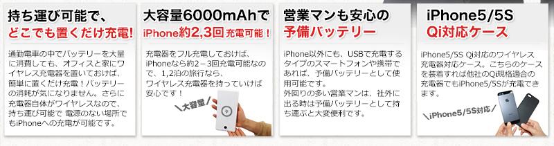 アイフォン5(iPhone5)もQi規格のワイヤレス充電対応機種になります