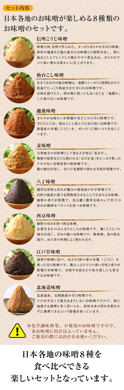 日本全国 味噌食べくらべセット