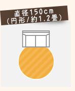 直径150cm