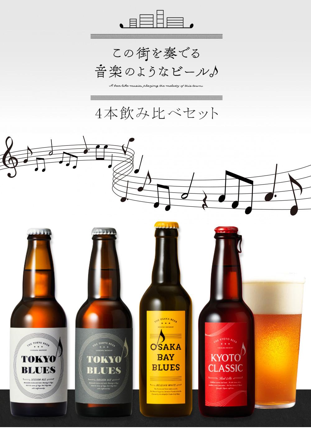 この街を奏でる音楽のようなビール 4本 飲み比べセット