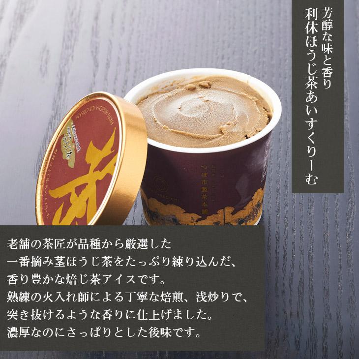 利休(抹茶・ほうじ茶)あいすくりーむ詰合せ こだわりのお茶 濃厚、芳醇な香り 8個セット 価格5,400円 (税込)
