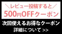 レビュー投稿すると500円OFFクーポンプレゼント