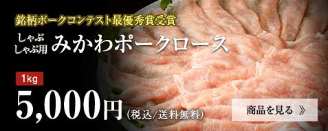 みかわポーク ロース 1kg 5,000円
