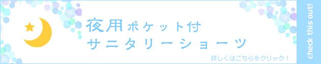 ポケット付サニタリーショーツ 生理ショーツ 夜用/