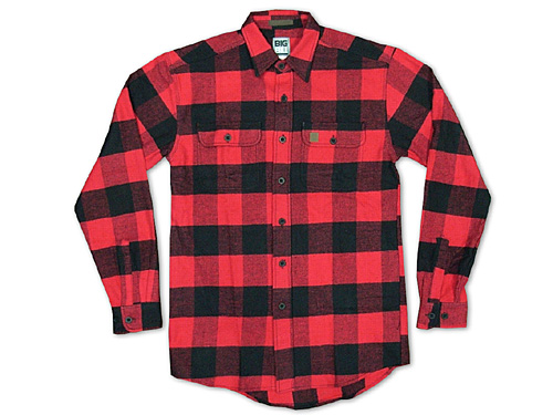 Jalana rakuten global market big bill bigbill 121 for Red black and white flannel shirt
