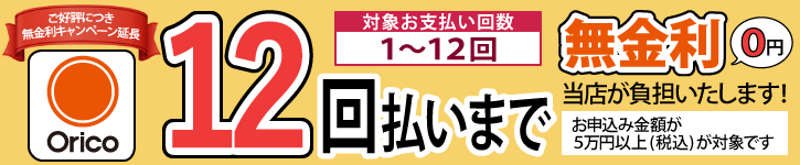 ショッピングクレジット金利手数料最大12回分無料キャンペーン2020年5月6日まで