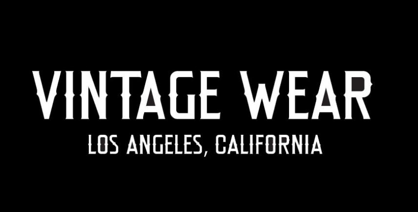 VINTAGE WEAR LA(ヴィンテージウエアーエルエー) アイコンとブリーチ加工をミックスさせたCOOLなグラフィティー。