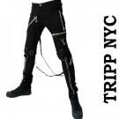 ボンテージパンツ TRIPP NYC トリップニューヨーク メンズ ブラック スキニーパン...