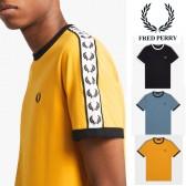 フレッドペリー サイドライン Tシャツ FRED PERRY ロゴ スポーツウェアー 月桂樹 ...